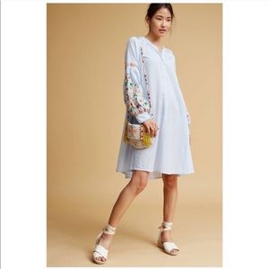 Anthropologie Frida Embroidered Tunic Dress